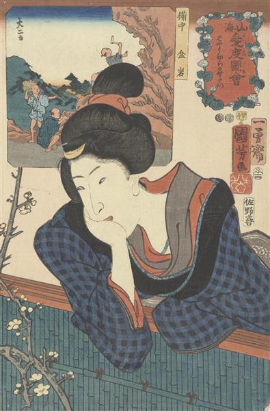 Wanting to See the Early Blooming, 1852 - Utagawa Kuniyoshi