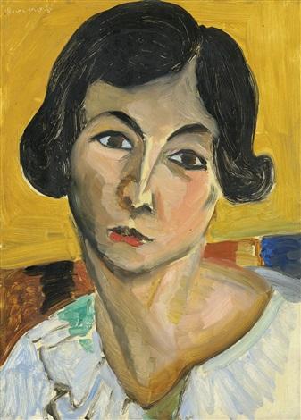 Tête De Femme Penchée (Lorette), c.1917 - Henri Matisse