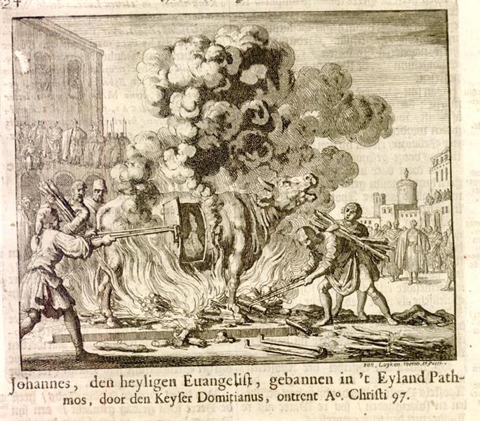 Antipas Roasted Alive in a Copper Steer, AD 95, 1685 - Jan Luyken