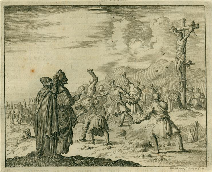 Crucifixion of Apostle Matthew, AD 70, 1684 - Jan Luyken