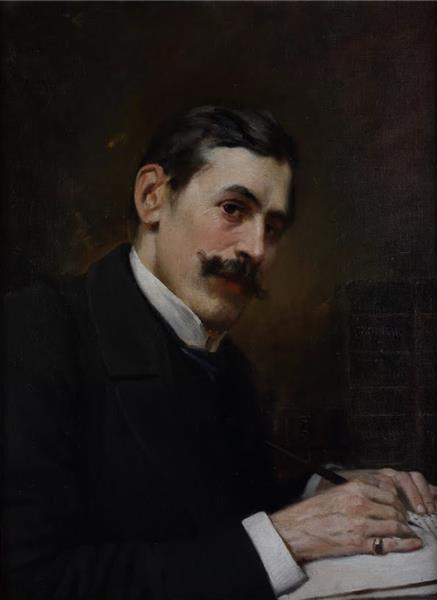Portrait of prof. Ivan Shishmanov, 1901 - Ivan Mrkvička