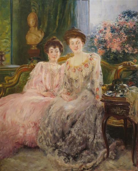 Portrait of the Kharitonenko Sisters, c.1903 - Paul-Albert Besnard