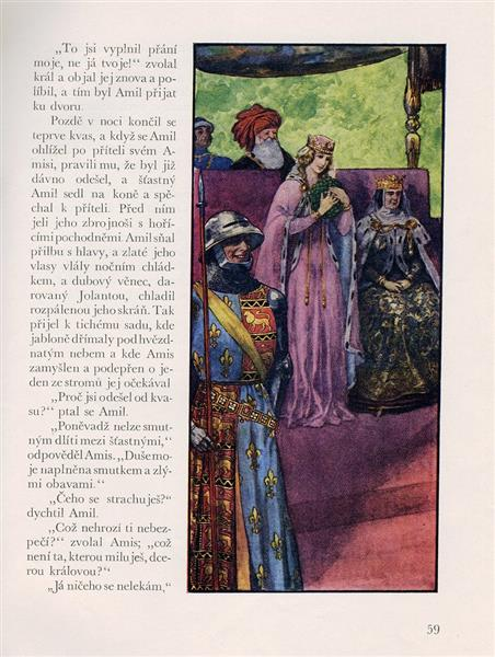 Illustration for Romance About The Faithful Friendship Of Amis And Amil - Artuš Scheiner