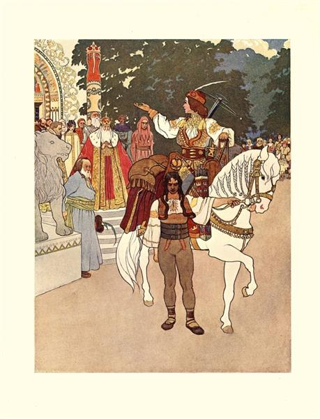 Illustration for King Mouselet And Prince Youth and The Bold Dwarfs' Adventures, c.1905 - Artuš Scheiner