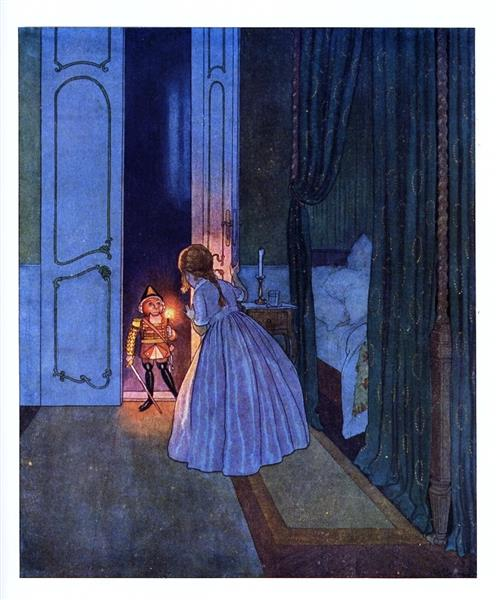 Illustration for The Nutcracker and the Mouse King, c.1924 - Artuš Scheiner