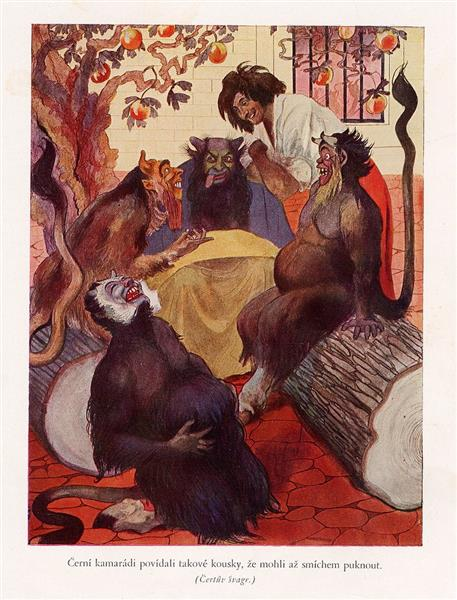 Illustration for Božena Němcová's Fairy Tales - Artuš Scheiner