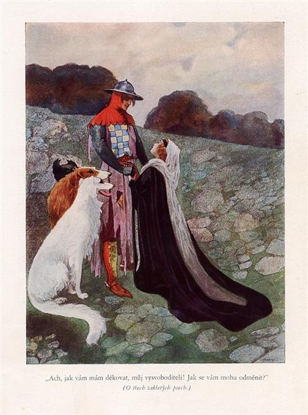 Illustration for Božena Němcová's Fairy Tales - Artuš Scheiner