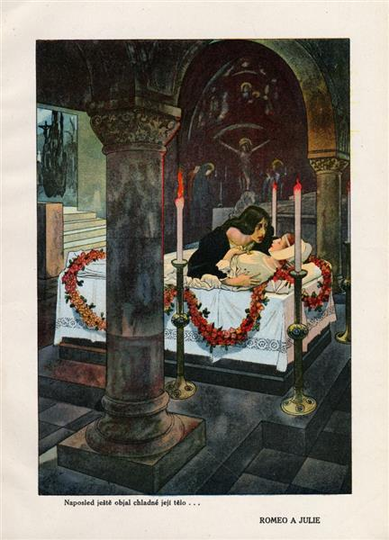 Illustration for Romeo and Juliet - Artuš Scheiner