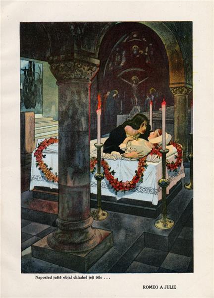 Illustration for Romeo and Juliet, c.1923 - Artuš Scheiner