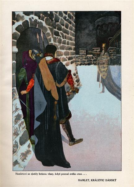 Illustration for Hamlet - Artuš Scheiner