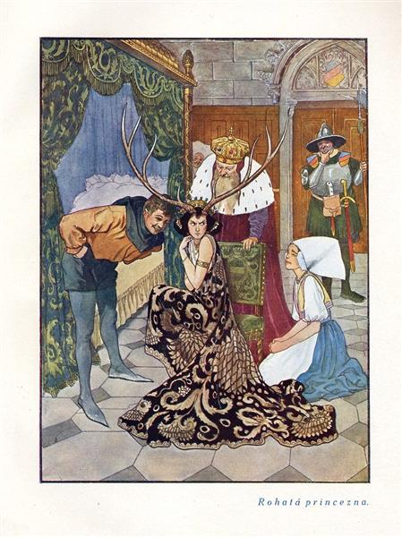 Princess with Horns - Artuš Scheiner