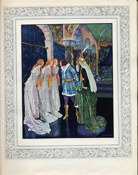 Illustration for Zlatovláska and Other Tales - Artuš Scheiner
