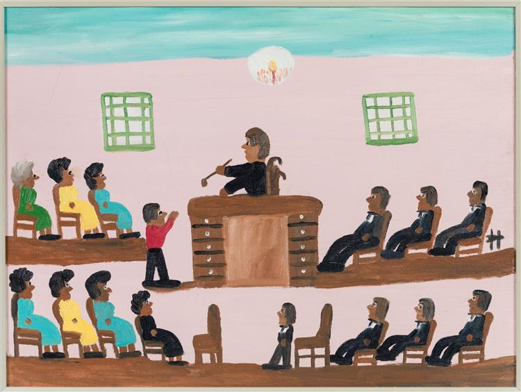 Courtroom, c.1980 - Clementine Hunter