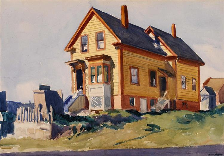 House in Italian Quarter, 1923 - Edward Hopper