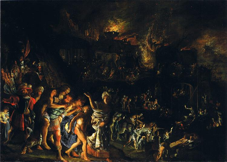 The fire of Troy - Adam Elsheimer