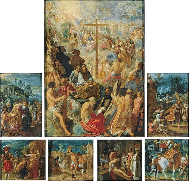 The Frankfurt Altarpiece of the Holy Cross, 1603 - 1606 - Адам Ельсгаймер