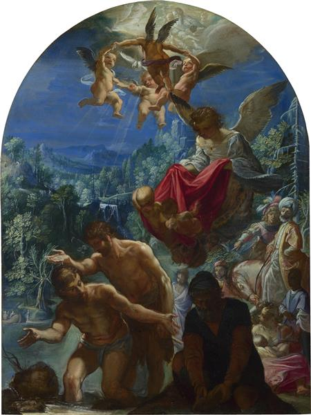 The Baptism of Christ - Adam Elsheimer