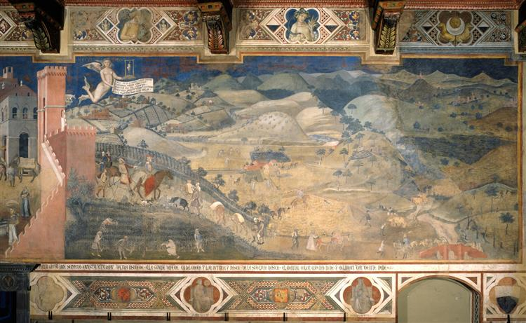 Effects of Good Government in the Countryside, 1338 - 1339 - Ambrogio Lorenzetti