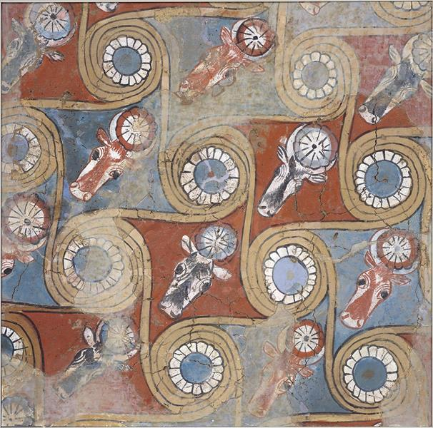 Ceiling Painting from the Palace of Amenhotep III, c.1390 - c.1353 BC - Ancient Egyptian Painting