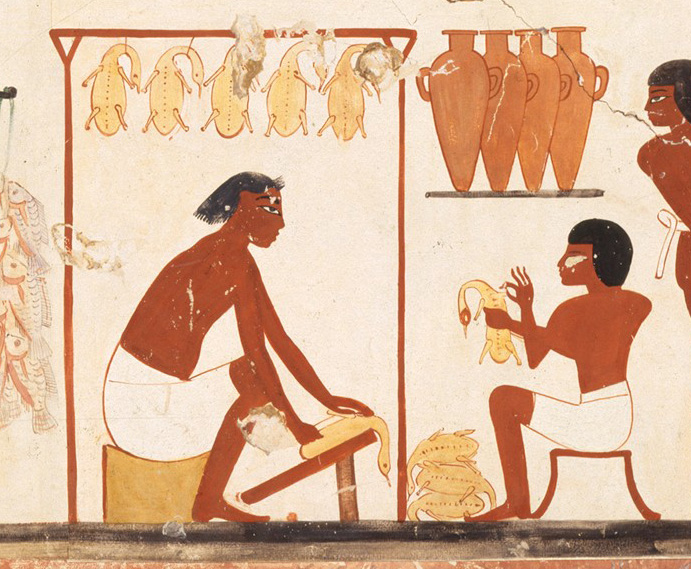 Man Carring Ducks, c.1390 BC - Ancient Egyptian Painting