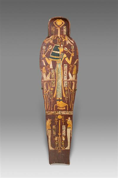 Mummy Board of Henettawy, Probable Sister Wife of High Priest of Amun Smendes, c.990 - c.970 BC - Ancient Egyptian Painting