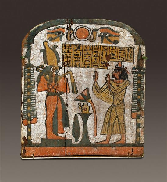 Stela of Inamennayefnebu, c.825 - c.712 BC - Ancient Egyptian Painting