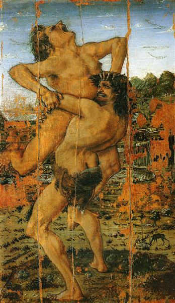 Hercules and Anteus, c.1460 - Antonio del Pollaiolo