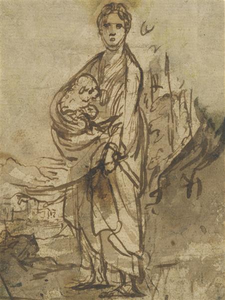 Saint Agnes - Adam Elsheimer
