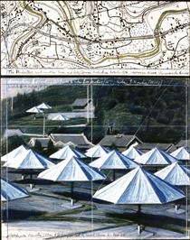 The Umbrellas. Joint Project for Japan and USA (Ibaraki and California) - Christo and Jeanne-Claude