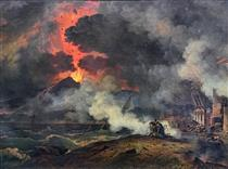 Eruption of Vesuvius arrived on August 24 of the year 79 - Pierre-Henri de Valenciennes