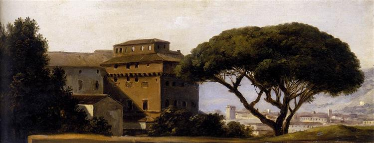 View of the Convent of Ara Coeli with Pines - Pierre-Henri de Valenciennes