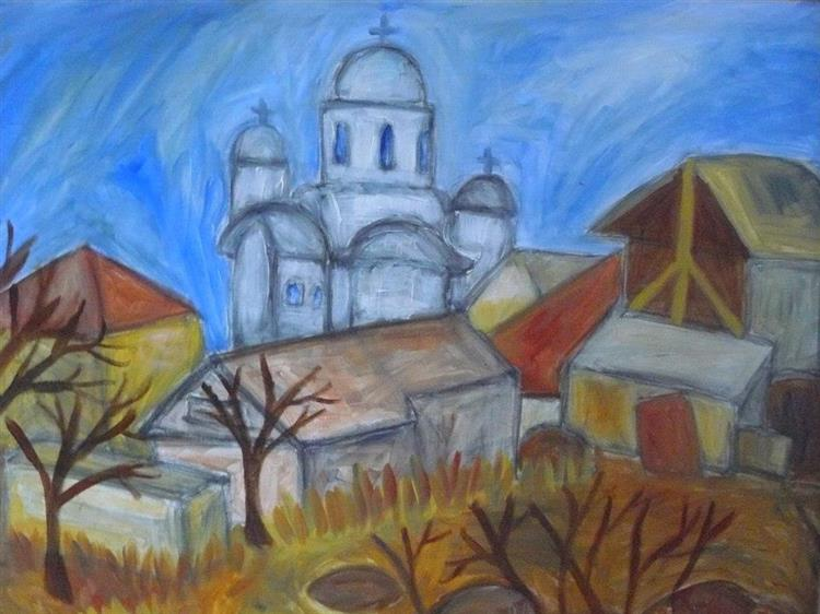 Village with Church, 2013 - Mihnea Cernat
