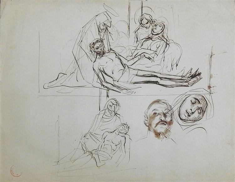 Etude pour Une Pietà - Alfred Dehodencq