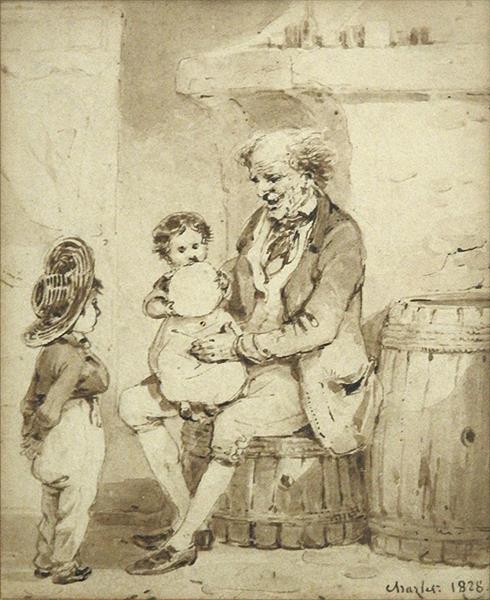 Le Vieil Homme et les Enfants, 1828 - Charlet