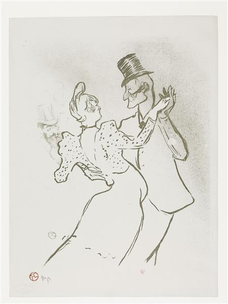La Goulue et Valentin, 1894 - Henri de Toulouse-Lautrec