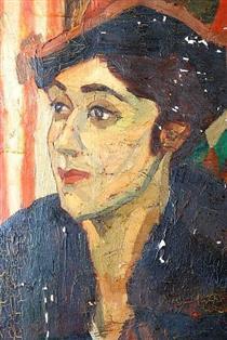 Portrait de la dame en noire - Nina Arbore