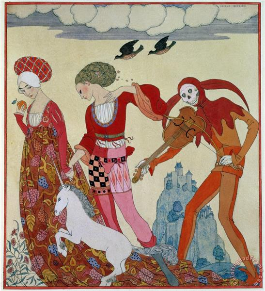Love, Desire, and Death - George Barbier