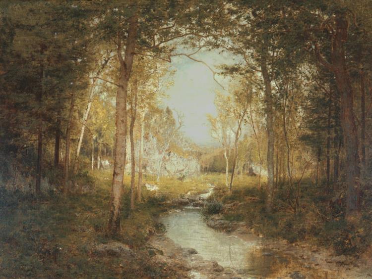 In the Adirondacks, 1882 - Alexander Helwig Wyant