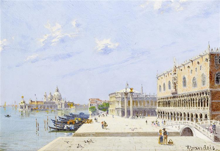 La Piazzetta, Palazzo Ducale, Venezia - Antonietta Brandeis