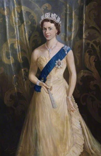 Elizabeth II, 1954 - Arthur Pan