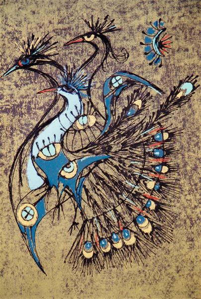 Peacocks, 1985 - Piroska Szanto