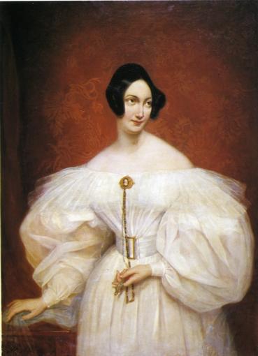 Unknown in a white dress - Charles de Steuben