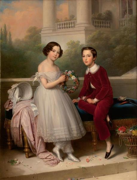 Iryna and Illarion Vorontsov-Dashkov, 1845 - Charles de Steuben