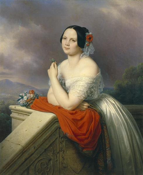 Portrait of a Young Woman, 1843 - Charles de Steuben