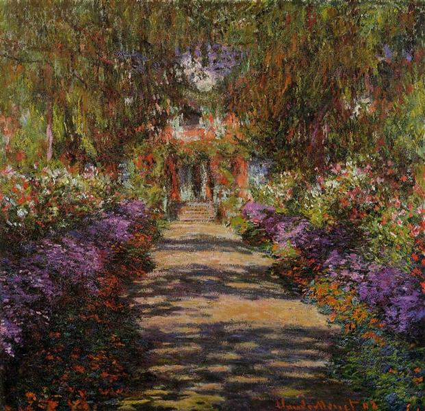 Pathway In Monets Garden At Giverny, 1901 - Claude Monet