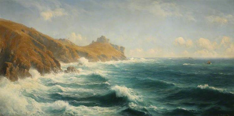 A Summer's Day, Gurnard's Head, Cornwall, 1890 - David James