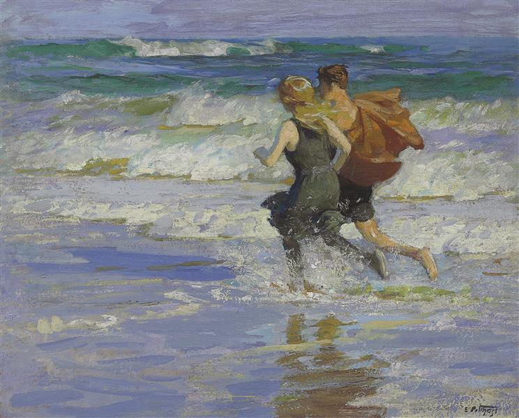 At the Beach, c.1918 - Edward Henry Potthast