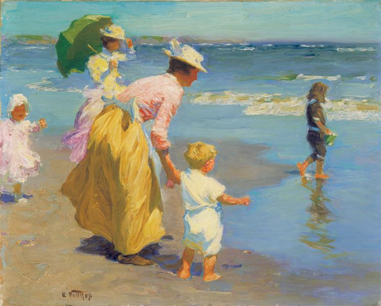 Beach Scene - Edward Henry Potthast