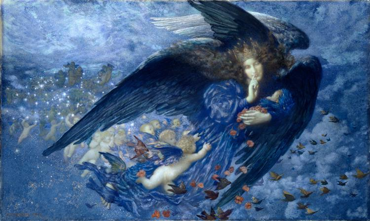 Night with Her Train of Stars, 1912 - Edward Robert Hughes