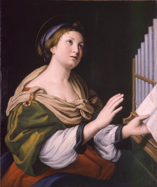 Saint Cecilia, 1650 - Джованні Батіста Сальві